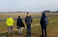 kijken bij de vliegbasis